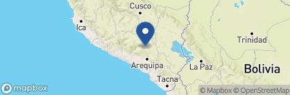 Map of Las Casitas del Colca, Peru