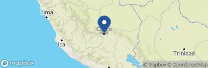 Map of Casa San Blas, Peru