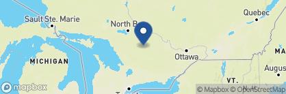 Map of Killarney Lodge, Canada