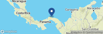 Map of Coral Lodge, Panama