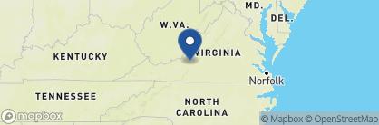 Map of Sheraton Hotel, Roanoke, USA