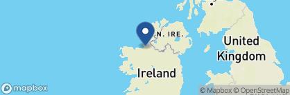 Map of The Glasshouse Hotel, Ireland
