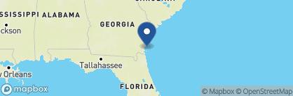 Map of Jekyll Island Club Resort, Deep South