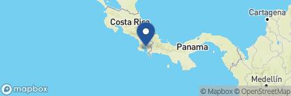 Map of Nicuesa Rainforest Lodge, Costa Rica