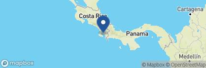 Map of Playa Cativo, Costa Rica
