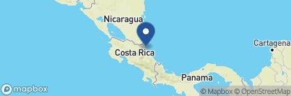 Map of Evergreen Lodge, Costa Rica