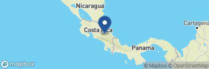 Map of Casa Turire, Costa Rica