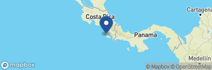 Map of Copa de Arbol Beach and Rainforest Resort, Costa Rica