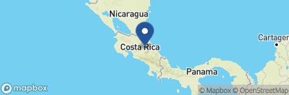 Map of Hacienda La Isla Lodge, Costa Rica