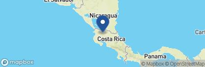 Map of Rio Celeste Hideaway, Costa Rica