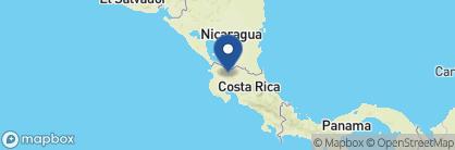 Map of Tenorio Lodge, Costa Rica