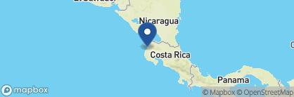 Map of Andaz Peninsula Papagayo, Costa Rica