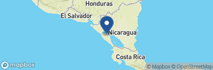 Map of Hotel Los Robles, Nicaragua