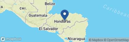 Map of The Lodge at Pico Bonito, Honduras