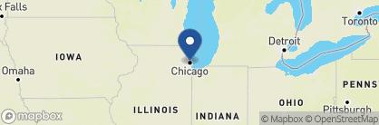 Map of Hampton Inn & Suites Chicago, US