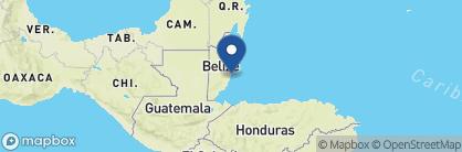Map of The Lodge at Jaguar Reef, Belize