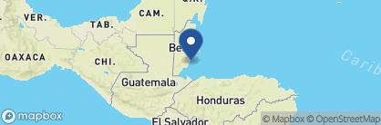 Map of Turtle Inn Resort, Belize
