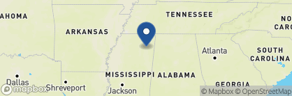 Map of Hilton Garden Inn Tupelo, Deep South