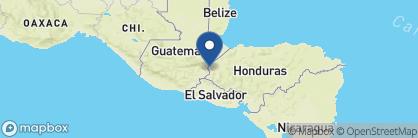 Map of La Casa Rosada, Honduras
