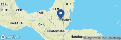 Map of Hotel Posada de la Selva, Guatemala