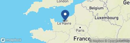 Map of La Ferme Saint Siméon, France