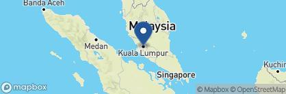 Map of The Majestic Hotel Kuala Lumpur, Malaysia
