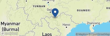 Map of Victoria Express Train, Vietnam