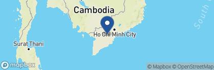 Map of Mekong Lodge, Vietnam