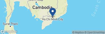 Map of Hôtel des Arts, Vietnam