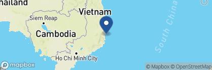 Map of Six Senses Ninh Van Bay, Vietnam