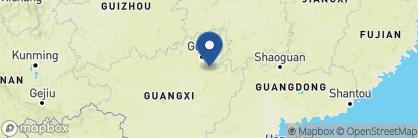 Map of Yangshuo Mountain Retreat, China