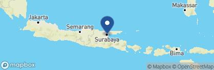 Map of Majapahit Hotel, Indonesia