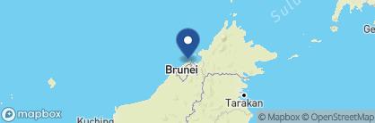 Map of The Empire Brunei, Borneo