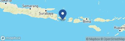 Map of The Legian, Indonesia