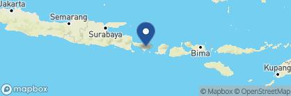 Map of Amandari, Indonesia