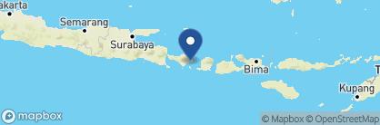 Map of Alila Manggis, Indonesia