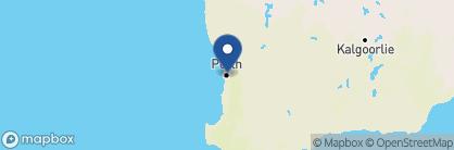 Map of The Sebel East Perth, Australia