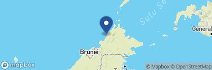 Map of Bunga Raya Island Resort, Borneo