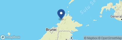 Map of Gaya Island Resort, Borneo