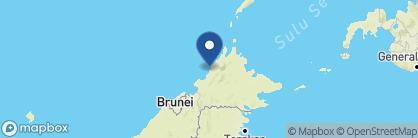 Map of Gayana Marine Resort, Borneo