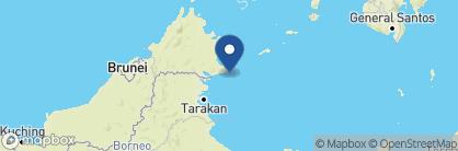 Map of Sipadan-Mabul Resort (S.M.A.R.T.), Borneo