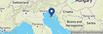 Map of Meneghetti Wine Hotel, Croatia