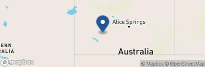 Map of Kings Canyon Resort, Australia