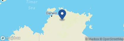 Map of Cooinda Lodge Kakadu, Australia
