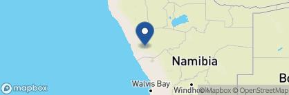 Map of Damaraland Camp, Namibia