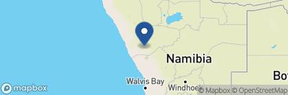 Map of Camp Kipwe, Namibia