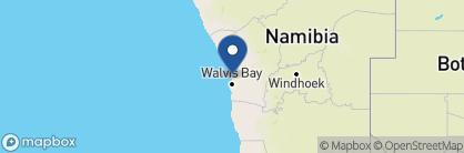 Map of Hansa Hotel, Namibia