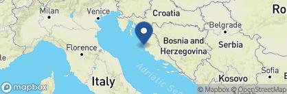 Map of Hotel Bastion, Croatia