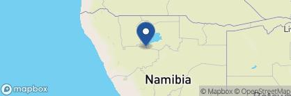 Map of Ongava Lodge, Namibia