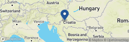 Map of Esplanade Zagreb Hotel, Croatia